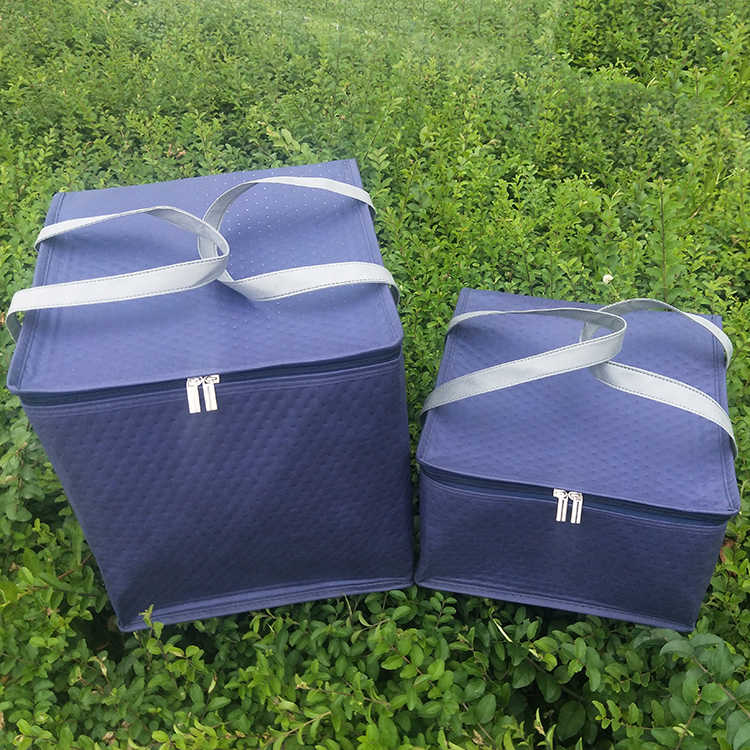 ... eco friendly fabric cooler bag picnic lunch box thermal ice pack insulation  pizza food drink cake ... 7a94549c3e79