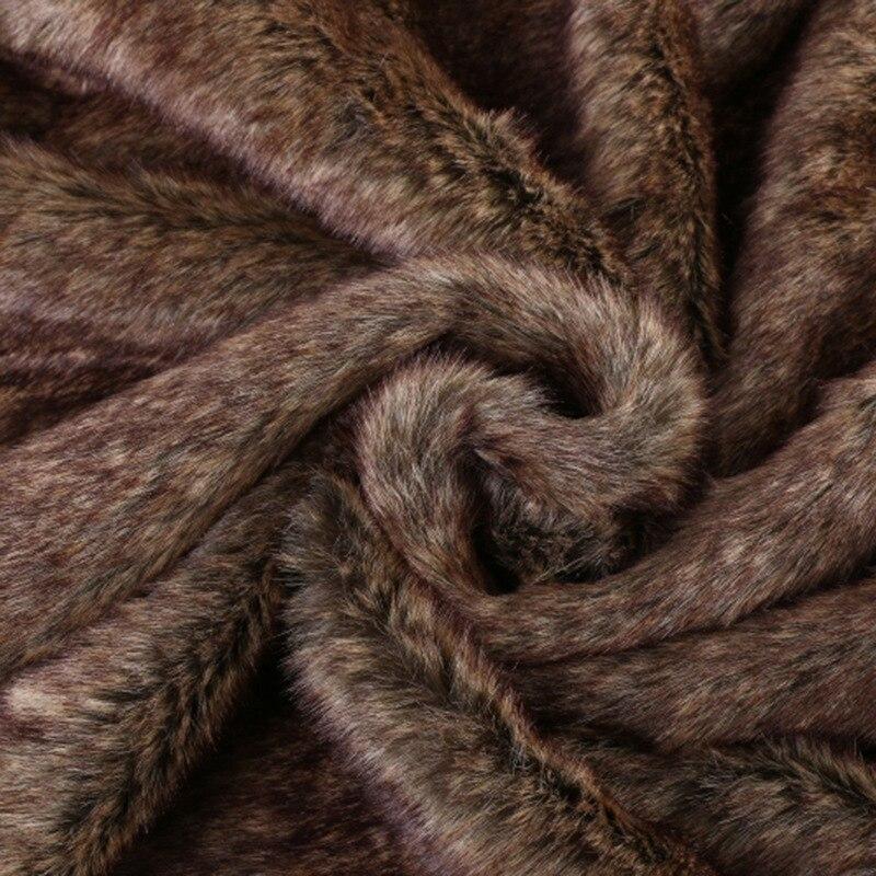 Tissu en fausse fourrure de lapin Shaggy (fourrure à poils courts) Costumes cheveux fourrures artificielles vendu au mètre livraison gratuite width170cm