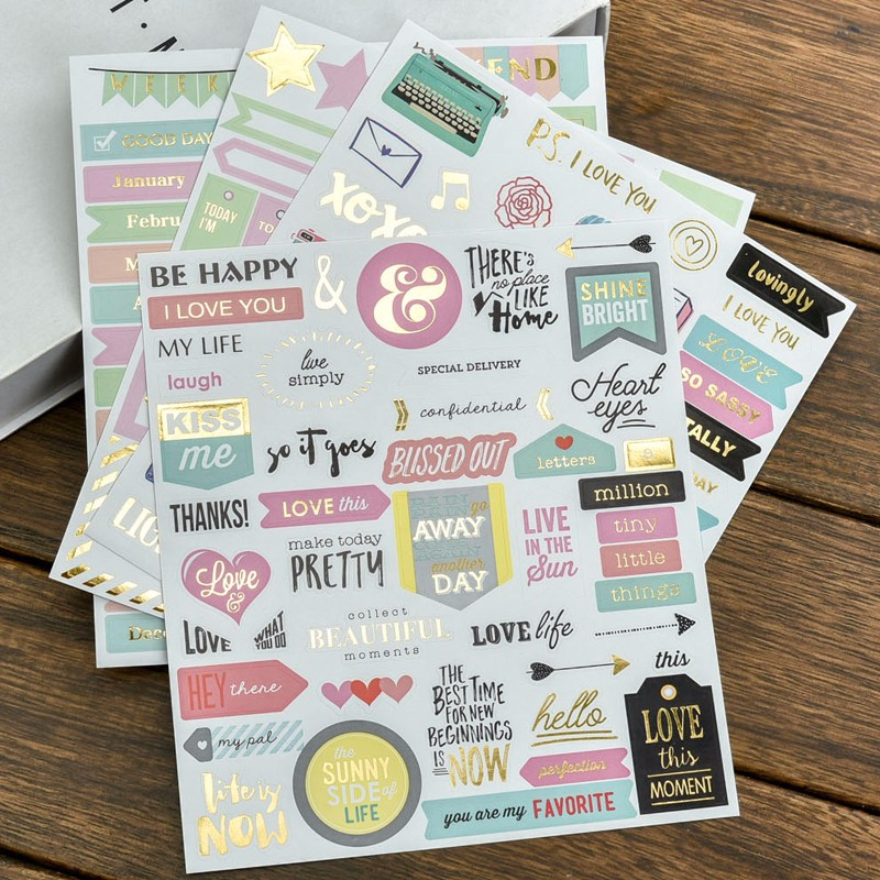 Creative Photo Decoration Self-adhesive Stickers For Scrapbooking/Card Making/Journaling Project DIY