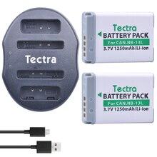 Tectra 2 шт. nb-13l nb13l литий-ионный Батарея + USB двойной Зарядное устройство для Canon PowerShot G5 X G7 x G7 x mark II G9 x SX720 HS Камера