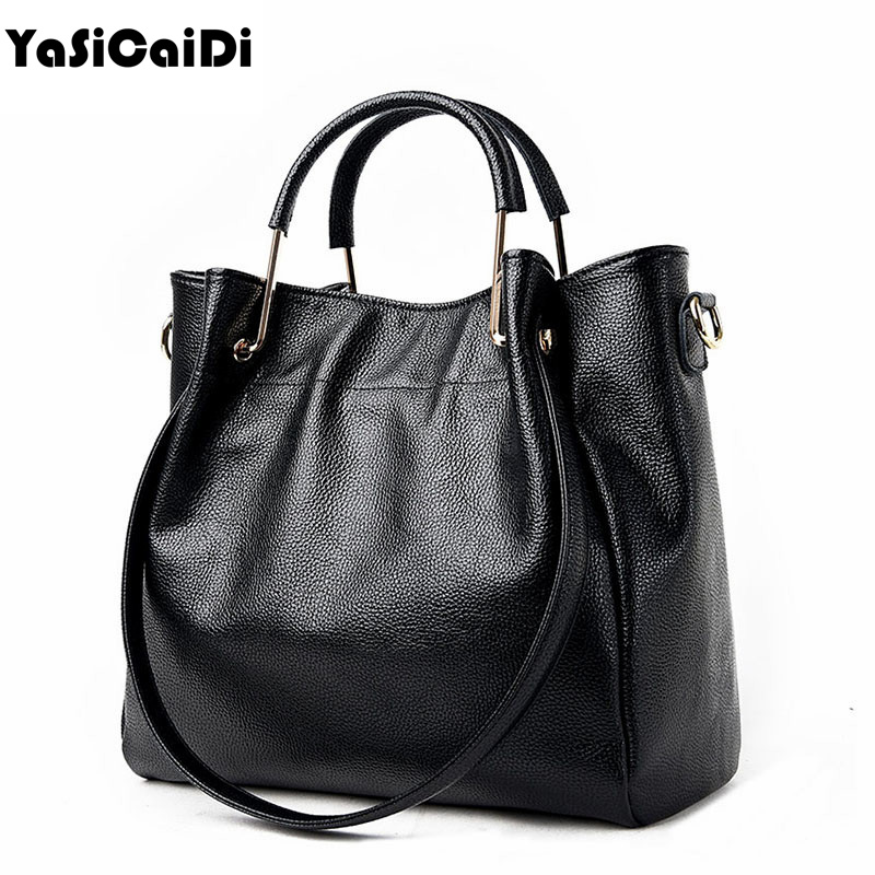 YASICAIDI Sheepskin Leather Women Handbag Famous Brand Tote Bag Designer Handbag Large Female Messenger Crossbody Bag For Women yeesupsei women genuine leather handbag famous brand tote bag designer handbag female messenger crossbody bag women bolsos sac