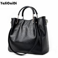 YASICAIDI Sheepskin Leather Women Handbag Famous Brand Tote Bag Designer Handbag Large Female Messenger Crossbody Bag For Women