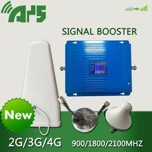Усилитель сигнала сотовой связи 2G 3G 4G 900 1800 2100 МГц, Gsm репитер, Усилитель сотового сигнала Lte Gsm Dcs, ретранслятор мобильного сигнала