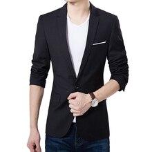 Blazer Men Casual New Balck Suit Jackets Blazers Men Cotton Blazer Men's Slim Fit Suits Jacket Plus Size S-5XL Brand Clothing
