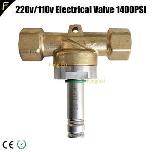 "Image 5 - 황동 1/2 ""더블 포트 dj Co2 기계 전기 밸브 110 V/220 V 24w 1400Psi 전자기 솔레노이드 밸브 고압"