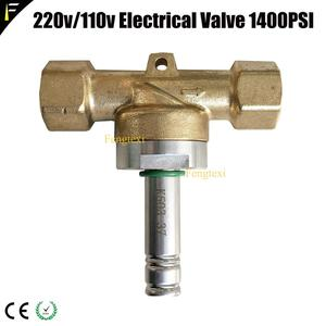 "Image 5 - Bronze 1/2 ""duplo porto dj co2 máquina válvula elétrica 110 v/220 v 24w 1400psi válvula solenóide eletromagnética de alta pressão"