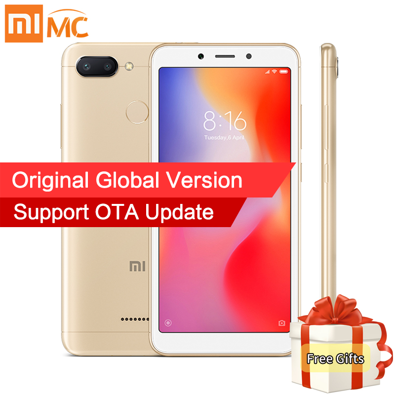 En Stock versión Global Xiaomi Redmi 6A 2 GB 16 GB MTK Helio A22 Quad Core 5,45