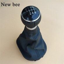 Newbee botão de mudança de velocidade de carro, alavanca de mudança, capa de bota de gaitor para volkswagen vw caddy 2 ii mk2 touran 2005 2006 2007 2008 2009