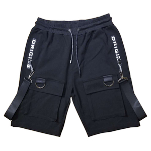 Image 5 - Men casual multi pockets ribbons hip hop punk cargo shorts streetwear mens hiphop skateboard short pants bermuda masculina