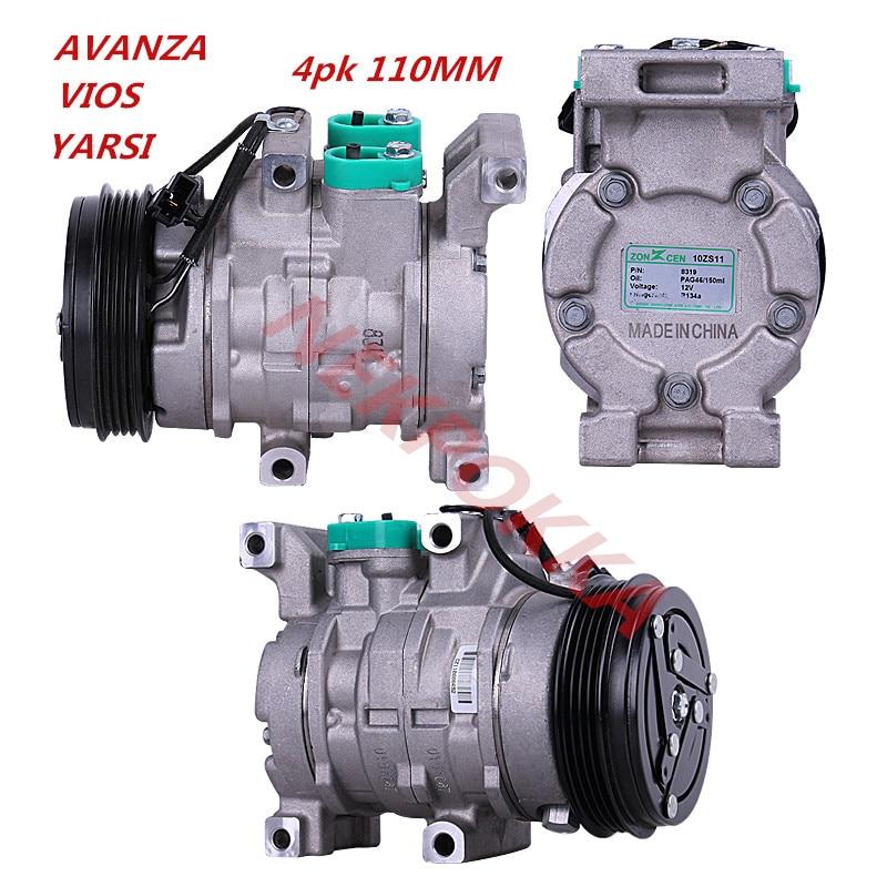 Air-conditioning Installation Automotive Air Conditioning Original Compressor For Toyota Vios Avanza Yarsi 1.3l/1.5l/1.6l 4pk 110mm Automobiles & Motorcycles