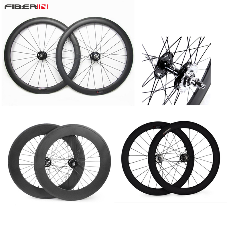 Fast Delivery 700C 50/60/88mm clincher/tubular, track front and rear bicycle fixed gear street bike single speed carbon wheel