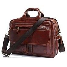 LOW Price Rare Genuine Cow Leather Men's Briefcase Laptop Messenger Bag Handbag  7085A