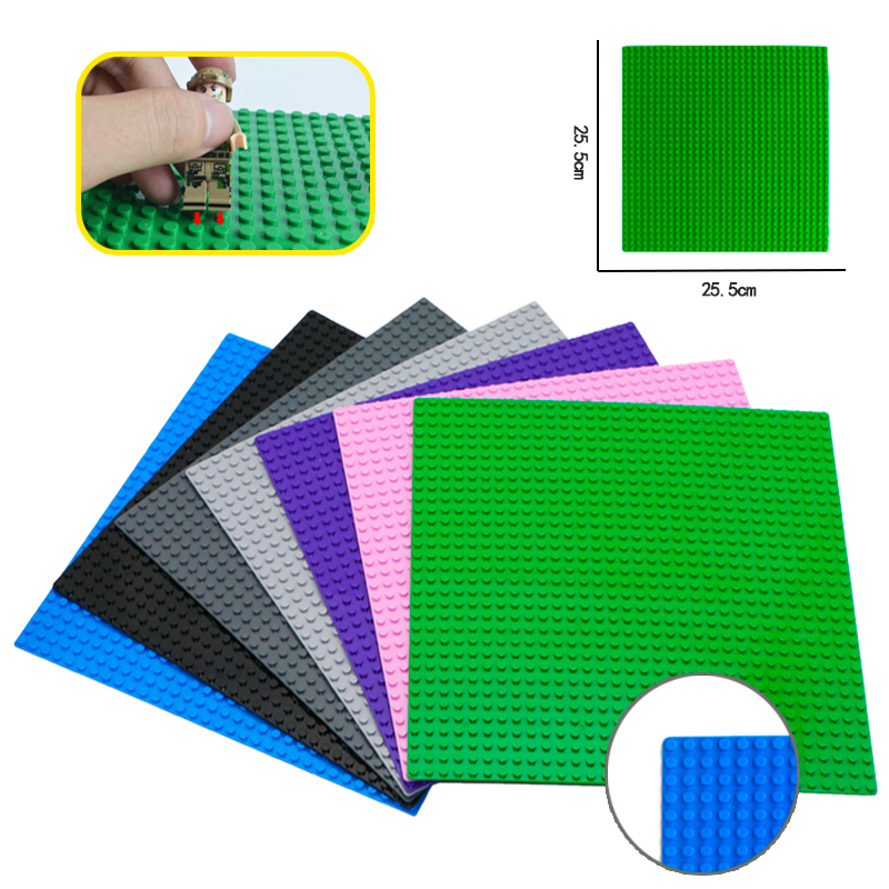 цена на 32*32 Dots Base Plates DIY Small Bricks Building Block Classic Plastic Bricks Baseplates Set Figures Action Compatible LegoINGly