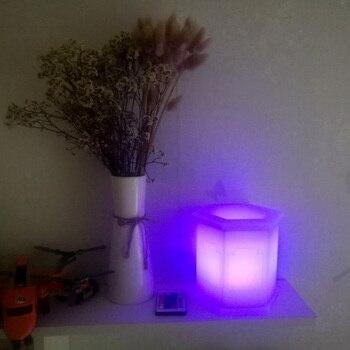 Новые цветочные горшки D16 * H16cm 16 цветов установка сверкающий в темноте освещенные вазы для украшения Бесплатная доставка 1 шт