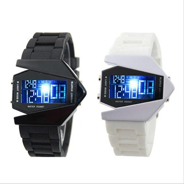23661d64903 Homens Relógio Do Esporte Colorido LED Digital Relógios Piloto Aviador  Militar relógio de Pulso Relógio Masculino