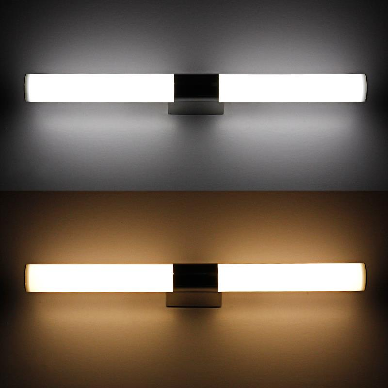 modern 100cm long 24w white linear acrylic bathroom LED mirror light ...
