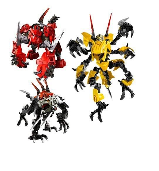 Free Shipping Decool 97b970123 3d Hero Factory 3 Demon Robot