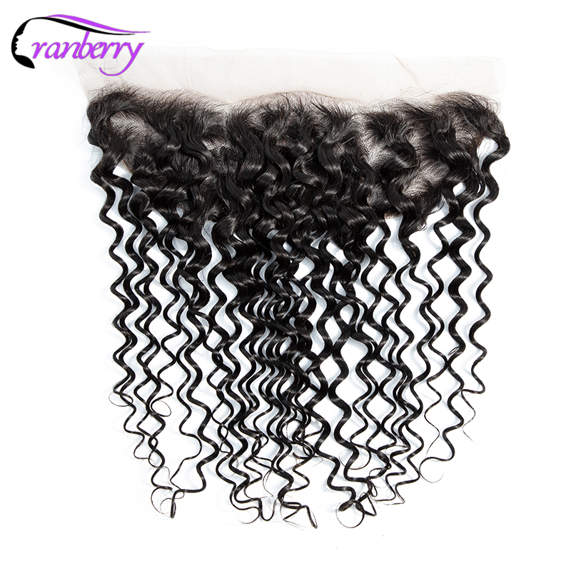 CRANBERRY Hair Water Wave Lace Frontal Closure 13 4 Swiss Lace Hair Closure Remy Human Hair