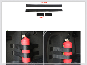 Car accessories parts fire extinguisher belt line fixing bracket velcro for Toyota 4Runner Sienna Sequoia Prius GR Camry image