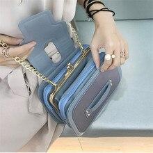 Сумка на цепочке, Корейская версия, сумка-мессенджер, модная многослойная Сумка на одно плечо, маленькая квадратная сумка