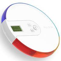 7 дней коробка для таблеток сигнализация-DIY цифровой маленький карманный органайзер для таблеток таймер, дорожный кейс для таблеток напомин...