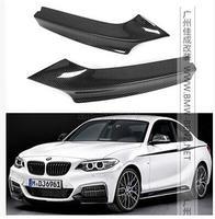 2 Series F22 Carbon Auto front Bumper Splitter Lip Apron for BMW M235i M240i F22 M Sport Coupe / Convertible 2014 2017