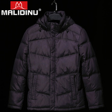 MALIDINU 2019 Men Down Jacket Winter Coat 70%White Duck Detachable Hood Parka Goose Russian