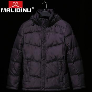 MALIDINU 2020 Men Down Jacket Winter Coat 70%White Duck Detachable Hood Parka Goose Russian