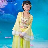 Chinese Folk Dance Ancient Chinese Costume Hanfu Cosplay Traditional Chinese Dance Stage Performance Dancewear AA3095 YQ