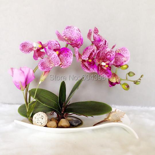 Real touch lattice orchidea home decorazione display fiore for Costo orchidea