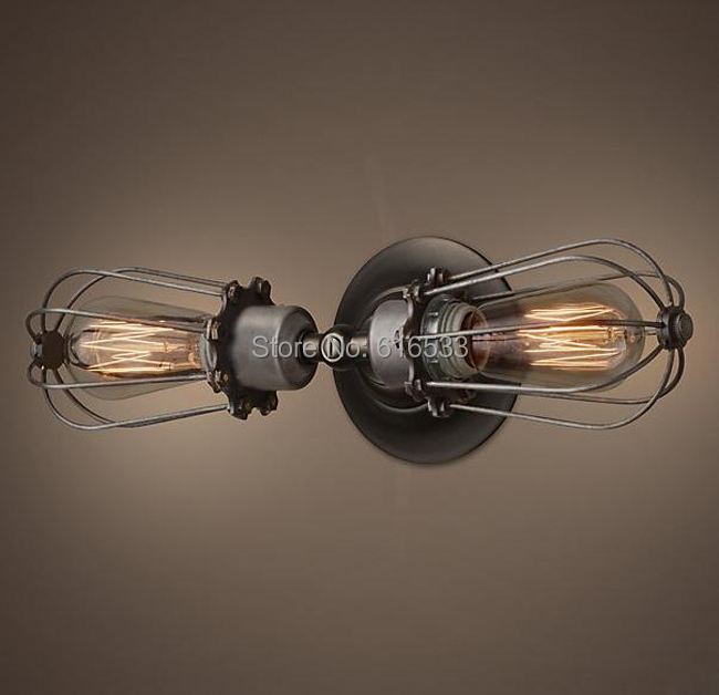American style industrial vintage wall lamp antique all-match series lamps corridor lights edison bulb b8041