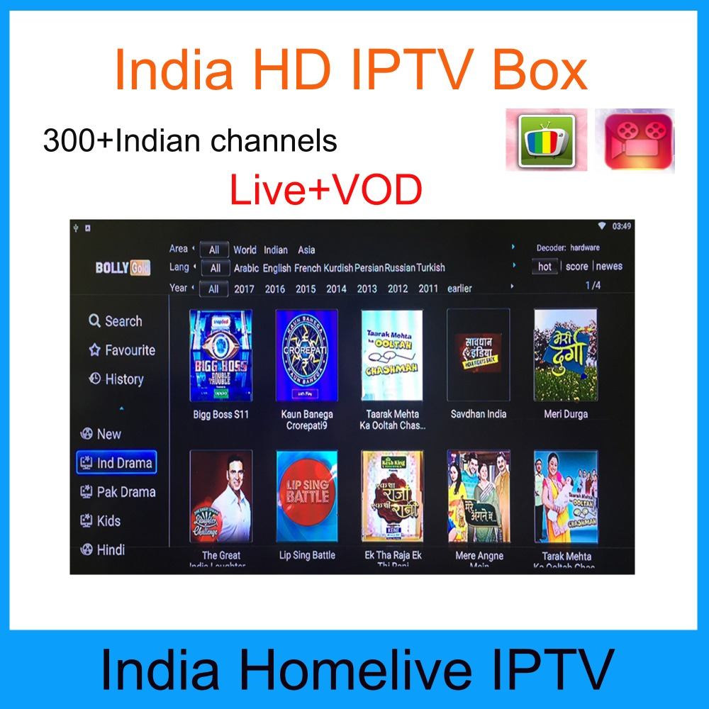 US $49 99 |Tx3 mini smart tv box Homelive Indian Arabic iptv subscription  4k hd india iptv with 300+ channels vod free latest movies-in Set-top Boxes