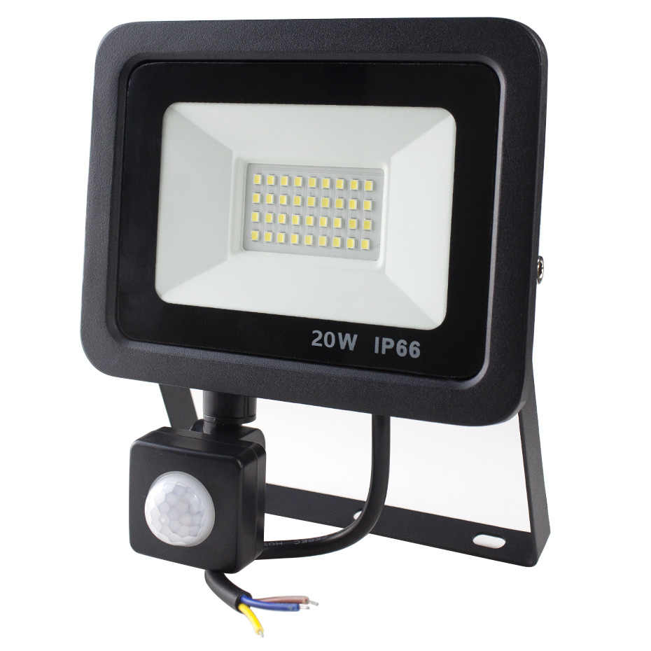 LED PIR Motion Sensor Adjustable Flood Light 10W 20W 30W 50W Waterproof IP66 220V Floodlight Garden Spotlight Outdoor Wall Lamp