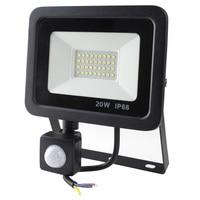 LED PIR Motion Sensor Adjustable Flood Light 10W 20W 30W 50W Waterproof IP66 220V Floodlight Garden Spotlight Outdoor Wall Lamp|Floodlights| |  -