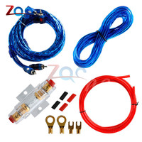 1500W Car Audio Wire Wiring Amplifier Subwoofer Speaker Installation Kit 8GA Power Cable 60 AMP Fuse