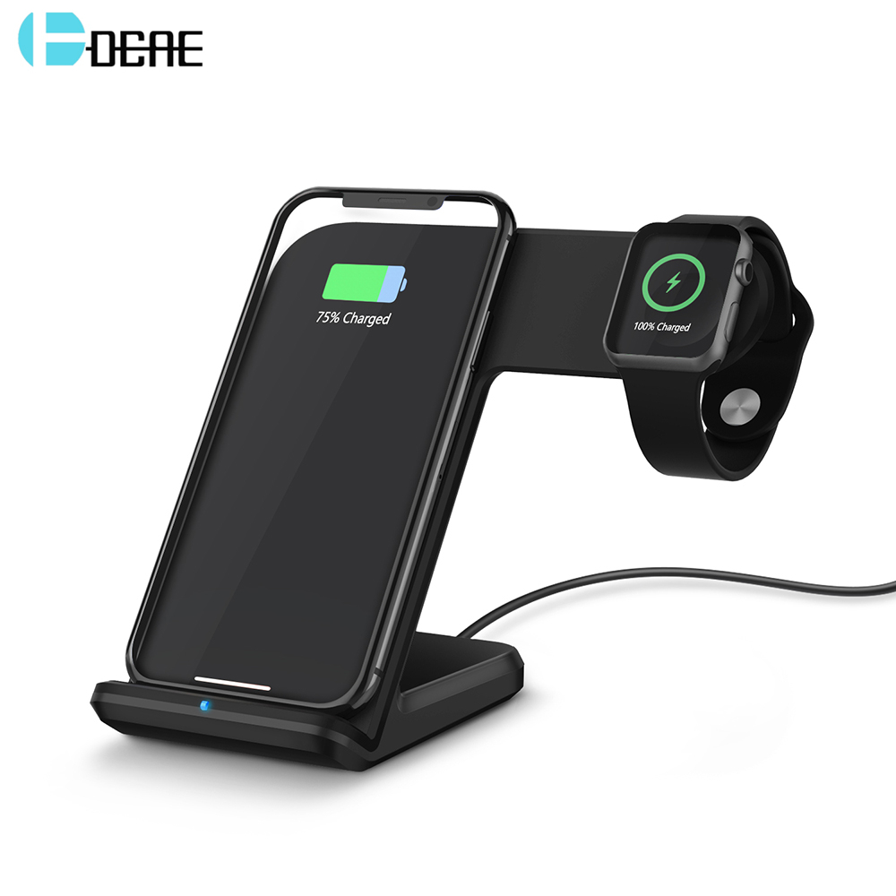 DCAE For iWatch 1 2 3 4 QI Wireless Charger For iPhone XS