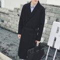 Мужчины траншею пальто для осени и весны, простой ряд кардиган в стиле casual style, куртки пальто и пиджаки пальто