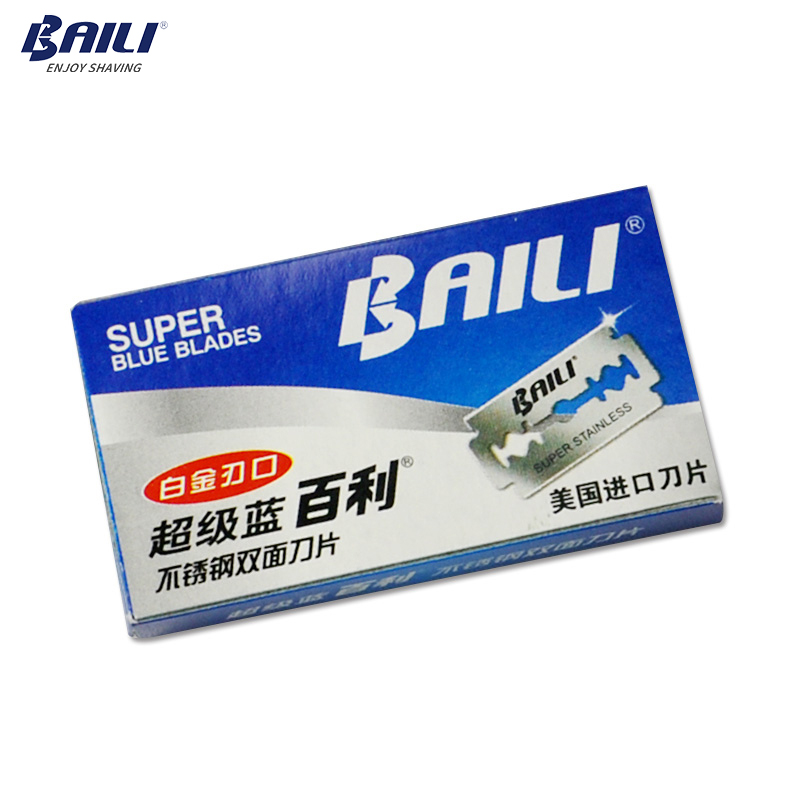 BAILI 100 Pcs/Lot Super Blue Platinum Replaceable Shaving Safety Shaver Razor Blades Stainless Steel Double Edge for Men BP003 2