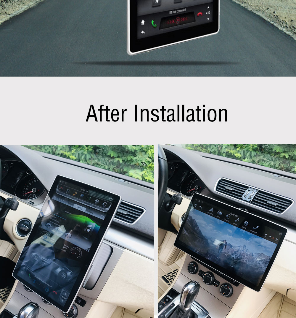 "Perfect 12.8"" IPS Screen Android 8.1 Car Radio Tesla style 2 Din GPS Navigation Auto radio For Honda Ford Hyundai VW Toyota Kia Nissan 3"