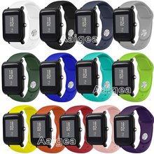 Fashion Silicone Watch Strap Band For Xiaomi Huami Amazfit Bip BIT PACE Lite Youth Replacement Sports Bracelet 20mm Wrist band 20mm sports silicone wrist strap band for xiaomi huami amazfit bip bit pace lite youth smart watch replacement band smartwatch