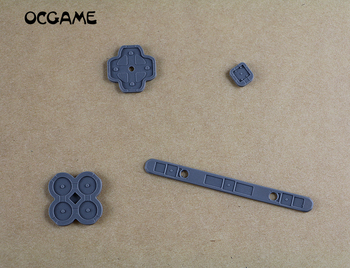 OCGAME Wholesale Silicone conductive rubber D-pad button for 3DSXL LL 3DS XL LL 50pcs/lot