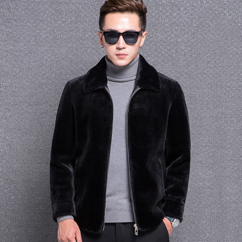 US $86.38 10% OFF|1771 New Fashion 25% Sheep Shearing Coat Man Winter Clothes Men Wool Coat Men Short Jacket Coat in Jackets from Men's Clothing on