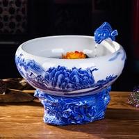 Jingdezhen Керамические фонтан zhaocai аквариум украшения китайской гостиной туман творческие декоративно прикладного искусства
