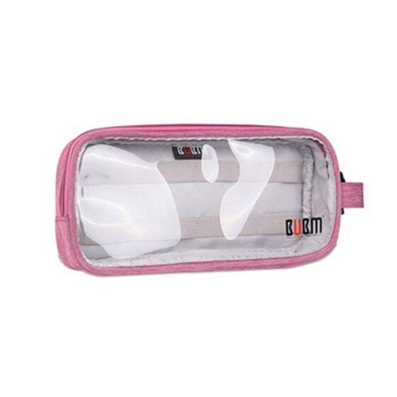 Модные BUBM цифровой аксессуары, сумки зарядное устройство, сумка S прозрачный роза красная ...