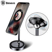 Baseus 360 Degree Rotation Magnetic Phone Holder For Samsung S8 Universal Desktop Mobile Phone Holder Stand