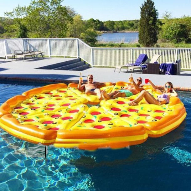 Free Shipping New Summer Style Funny Pool Floats Lightweight Inflatable  Float Swimming Tube Water Lounge Seat Pizza Air Mat Raft In Air Mattresses  From ...