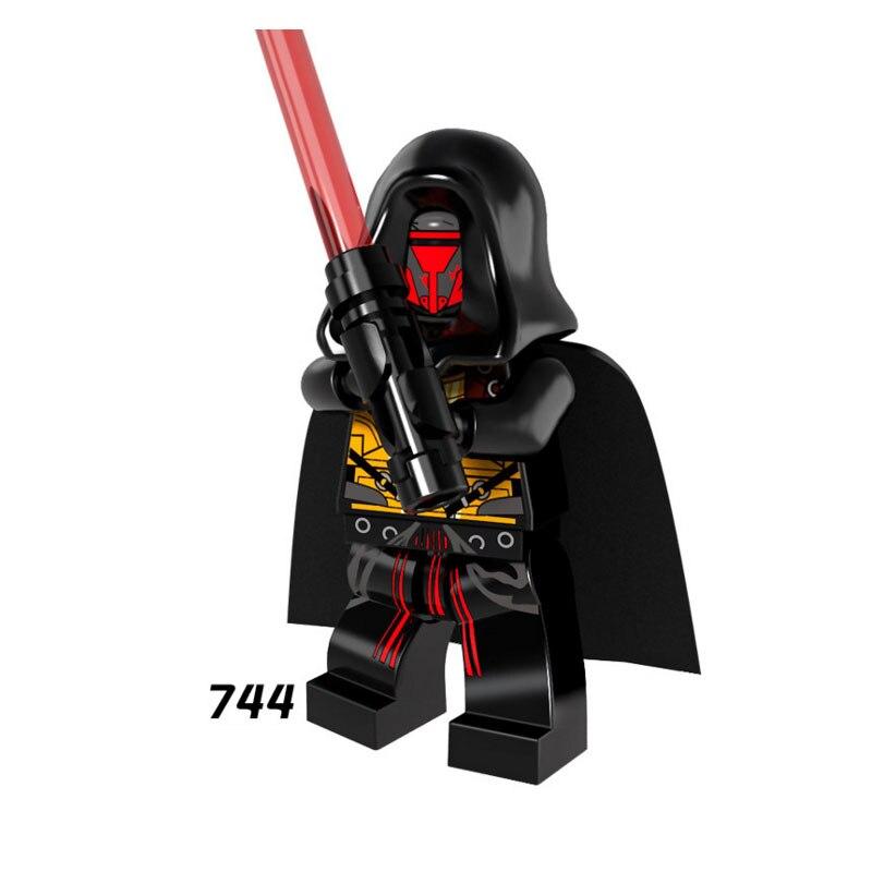 Single Sale Super Heroes Star Wars Darth Revan 744 Model Mini Building Blocks Figure Bricks Toys Gifts Compatible Legoed Ninjaed