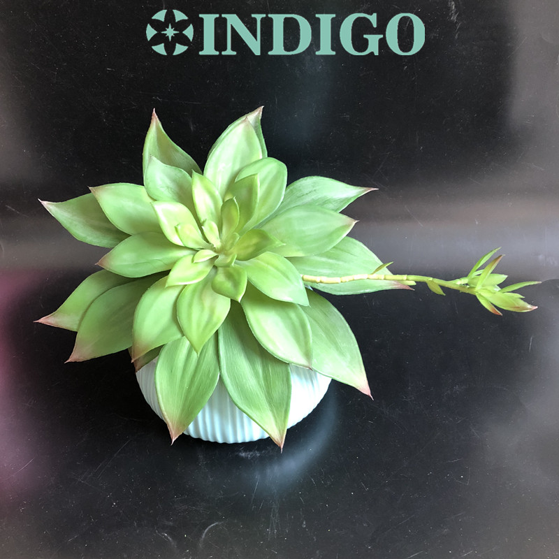 INDIGO- Wholesale 50pc Water Lily Lotus Artificial Succulent Plant Plastic Real Touch Flower Background Decoration Free Shipping