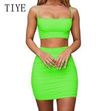 TIYE Hollow Out Sexy Pleated Women Dress Elegant Spaghetti Strap Sleevelees Bodycon Night Party Club Vestidos Retro