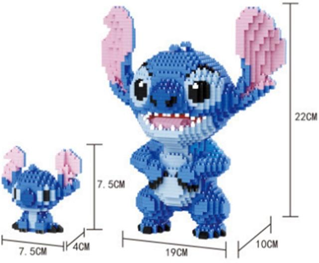 8 Models Balody Mini Blocks Big size Cute Mar stitch Sence Model bricks Luige Assembly brinquedos Kids Gifts Toys for Children | Model Building